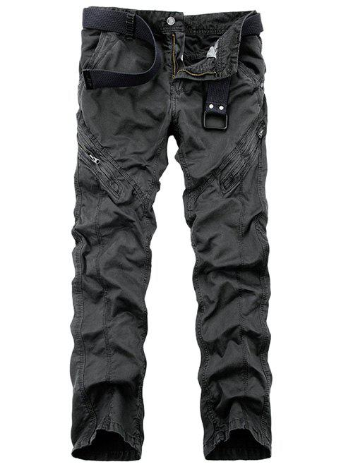 Cheap Zippered Mid-Rise Straight Leg Cargo Pants