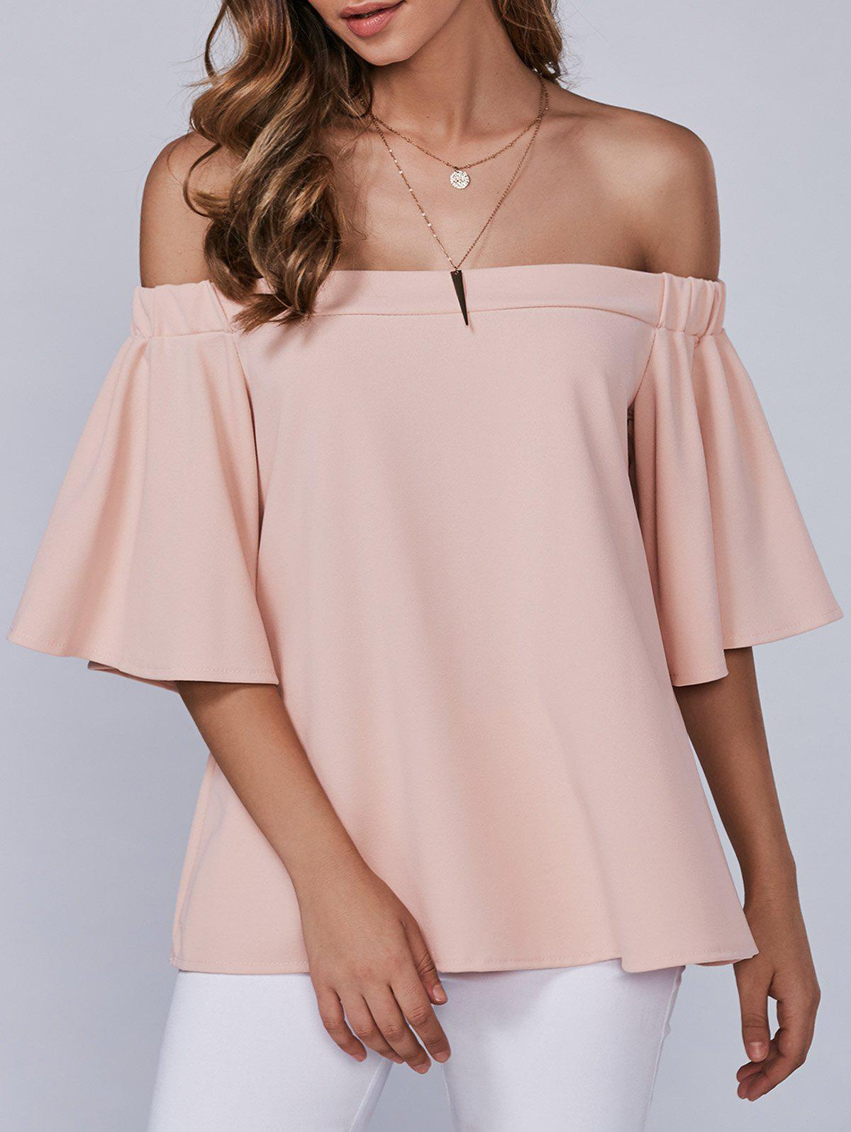 Buy Autumn Zipper Off-The-Shoulder Blouse