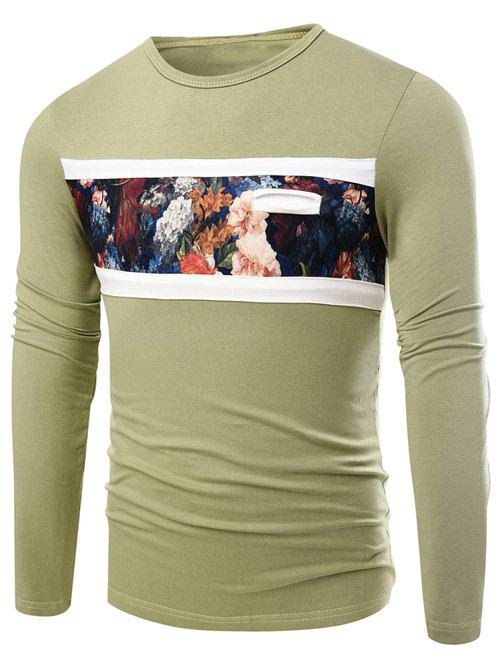 Outfit Round Neck Floral Print Long Sleeve T-Shirt
