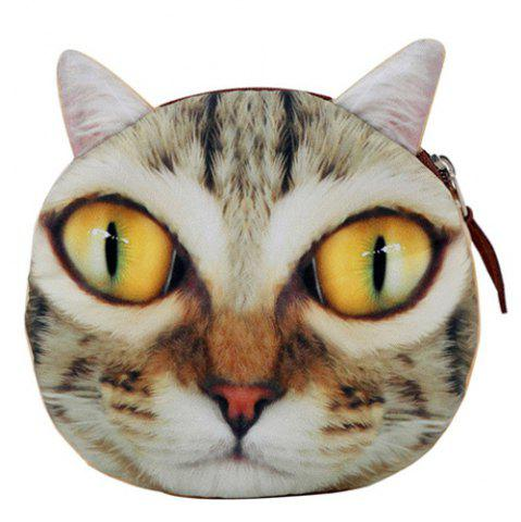 Sale 3D Animal Face Coin Bag - YELLOW  Mobile