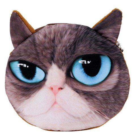 Online Fatastic 3D Animal Face Coin Purse COFFEE