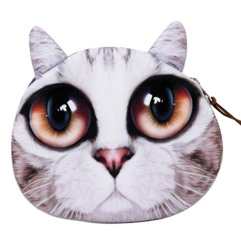 Sale Zipper Kitten Face Coin Purse