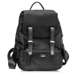 Buckle Straps Waterproof Backpack - BLACK