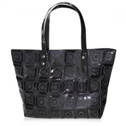 Metal Geometric Pattern Tote Bag