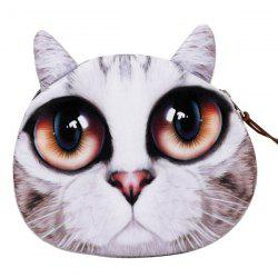 Zipper Kitten Face Coin Purse -