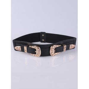 Wide Stretch Double Buckle Belt