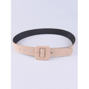 Coat Wear Pin Buckle Wide Cloth Belt