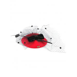 Sororal Party Bowknot Polka Dot Veil Fascinator Hat