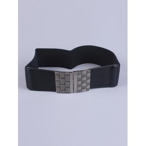 Coat Wear Weaving Metal Basket Buckle Stretch Belt