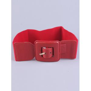 Big Square Pin Buckle Stretch Chunky Waist Belt