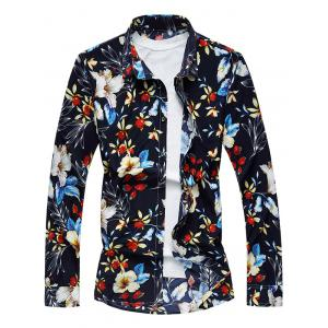 Long Sleeve Floral Printed Shirt