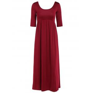 Ruched Empire Waist Long Formal Dress