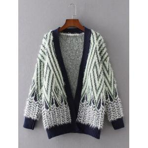 Zig Zag Long Sleeve Cardigan