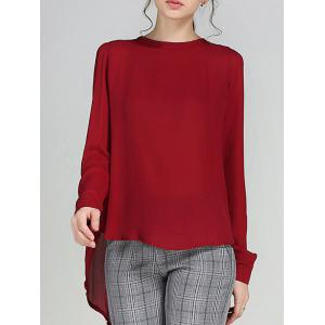 High Low Pleated Blouse
