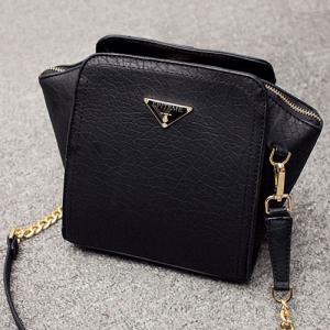 Metal Embossing Chain Crossbody Bag