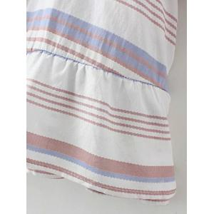 Flared Sleeve Striped Tunic Top -