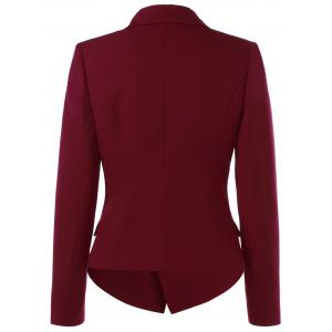 Flap Pockets Buttton Embellished Blazer -