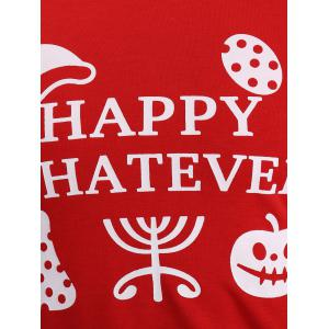 Happy Whatever Print Halloween Sweatshirt -