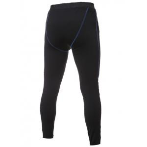 Skinny Elastic Waist Stitching Gym Pants - BLACK L