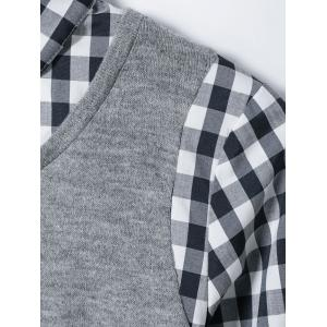 Spliced Plaid Blouse -