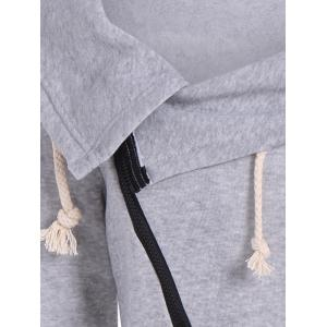 Inclined Zipper Pockets Sweatshirt - GRAY XL