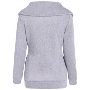 Inclined Zipper Pockets Sweatshirt -