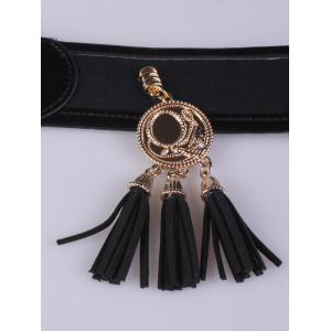Coat Wear Tassels Pendant Pin Buckle Wide Belt -