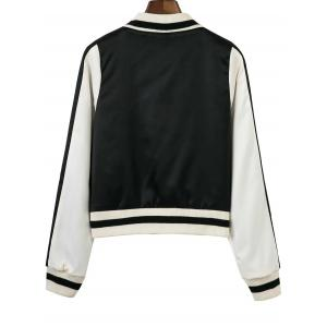 Raglan Sleeve Zip-Up Baseball Jacket -