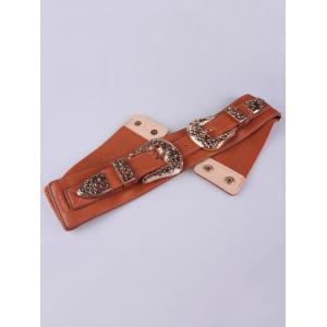 Wide Stretch Double Buckle Belt -