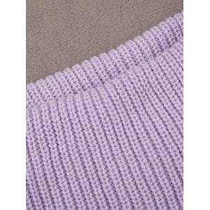 Turtleneck Grommet Lace Up Sleeveless Jumper Sweater Vest - LIGHT PURPLE M