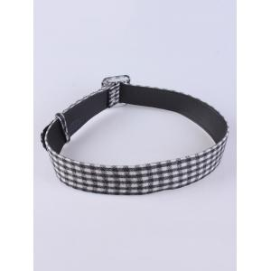 Coat Wear Plaid Cloth Wide Belt -