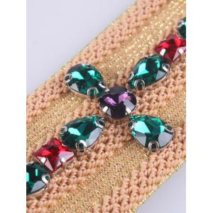 Coat Wear Faux Crystal Knitted W Stretch Belt -