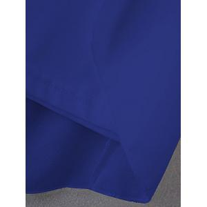 Plus Size Cut Out Layered Chiffon Blouse - ROYAL BLUE 5XL