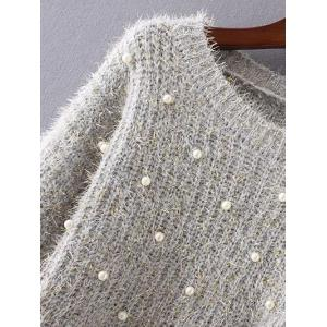 Beaded Cap Sleeves Sweater -