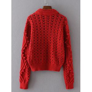 Hollow Out Textured Sweater -