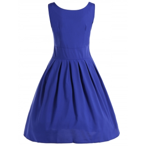 Vintage Ruched Puffball Dress -