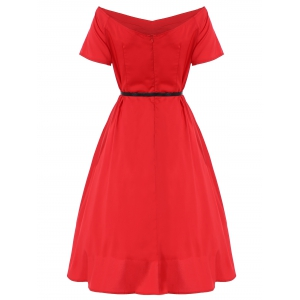 Vintage Belted Puffball Dress -