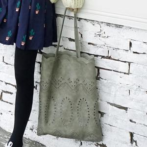 Hollow Out Scalloped Edge Shoulder Bag -