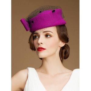 Sororal Party Big Bow Veil Pillbox Hat -