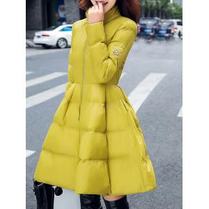 Fit and Flare Puffer Coat -