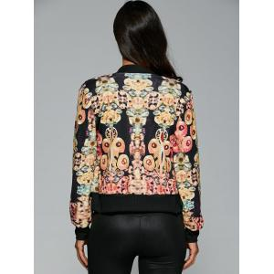 Abstract Print Zipper Design Jacket -