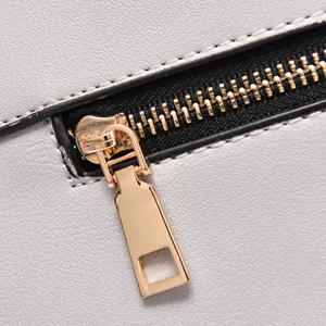 Lock Zipper Embellished Tote Bag -