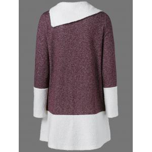 Side Collar Knitted Pullover -