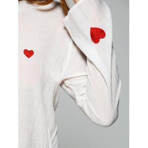 See Through Heart Embroidery Blouse -