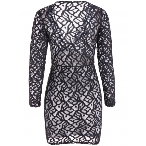 Openwork Lace Bodycon Dress -