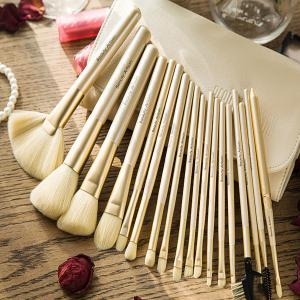 18 Pcs Fiber Makeup Brushes Set With Brush Bag -