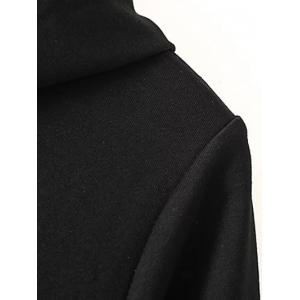 Plus Size Zippered Contrast Side Slit Hoodie -