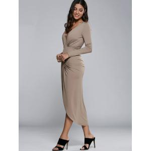 Long Sleeve High Slit Dress -