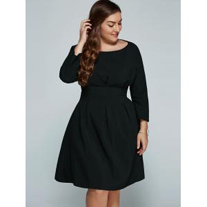 Plus Size Empire Waisted Flare Dress -