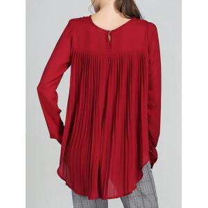 High Low Pleated Blouse -